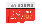 Samsung 256GB micro SD Card EVO+ with Adapter, Class10, UHS-1 Grade1, Read 80MB/s - Write 20MB/s