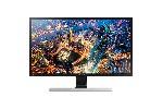"Monitor Samsung U28E590D 28"" LED, Ultra HD (3840x2160), Brightness: 370cd/m2, Contrast: 3000:1, Response time: 1ms, Viewing Angle: 170°/160° , 2xHDMI, DP, Black (+ DP Cable)"