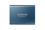 Portable SSD Samsung T5 Series, 250 GB 3D V-NAND Flash, Slim, USB type-C , Metal Blue