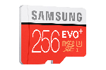 Samsung MicroSD card EVO+ series with Adapter, 256GB , Class10, UHS-3 Grade1 , Speed Read 95MB/s, Speed Write 90MB/s